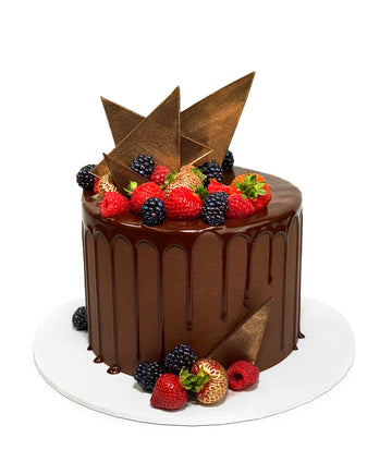Chocolate & Fresh Fruits Cake - GF