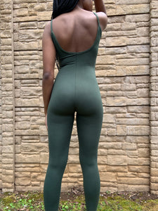 Just Chill Olive Jumpsuit