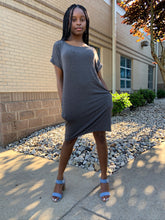 Load image into Gallery viewer, Dior Gray Oversized T-Shirt Dress
