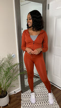 Such A Sweetheart Seamless Legging Set | Rusted Orange