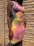 Colorful Couture Bodycon Dress