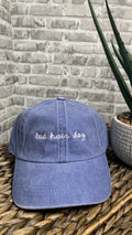 Baddie Bad Hair Day Baseball Cap | Denim Blue