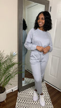Ash Gray | Lazy Linen Pullover & Jogger Set (1X-3X)