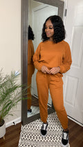 Almond | Lazy Linen Pullover & Jogger Set