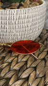 Red || Gold Rim Oval Retro Sunglasses