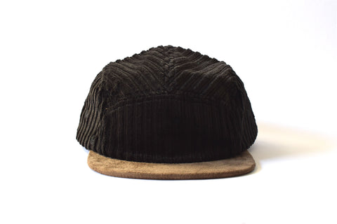 Corduroy Negro Five Panel Hat (sb)