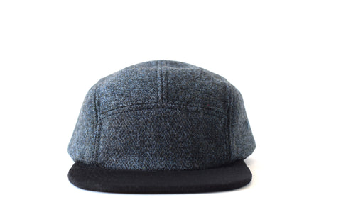 Night Blue Melange Five Panel Hat