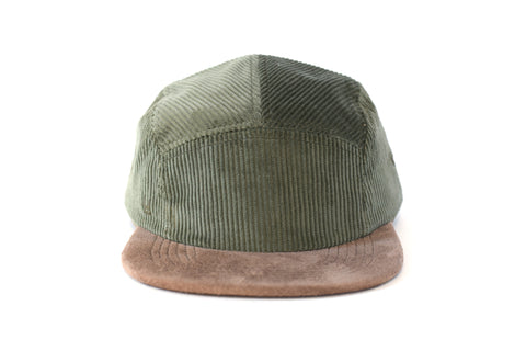 Corduroy Verde Mar Five Panel Hat