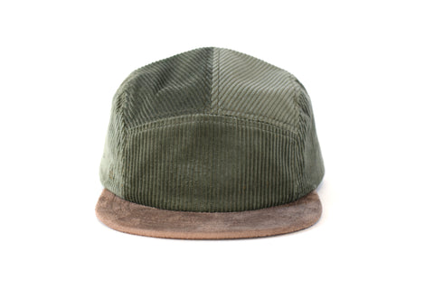 Corduroy Verde Mar Five Panel Hat (sb)