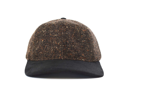 Black Brown Chequered Six Panel Hat