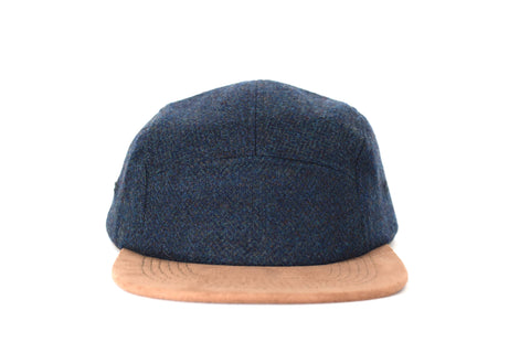 Teal Mix Melange Five Panel Hat