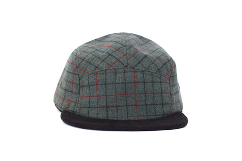 Herrington Plaid Wool Five Panel Hat (sb)