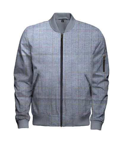 Herrington Check Wool Bomber Jacket - $240