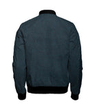 Jade Black Micro Herringbone Wool Bomber Jacket - $260