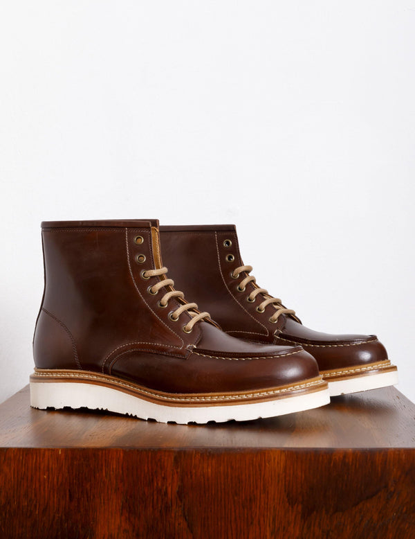 Berwick 1707 Moc Toe Boot Cross Tabaco - Berwick 1707