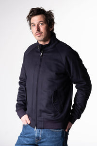 Baracuta G9 Harrington Melton Jacket Deep Blue