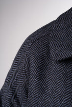 Laden Sie das Bild in den Galerie-Viewer, La Paz Jacke Moreda Black / Stone Blue Herringbone