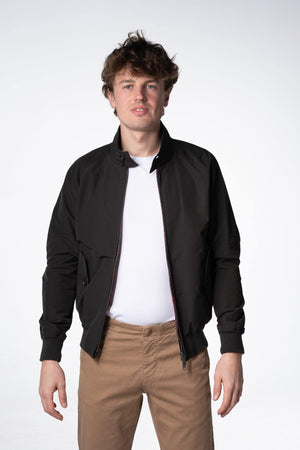 Baracuta G9 Harrington Jacket Washed Black - Baracuta