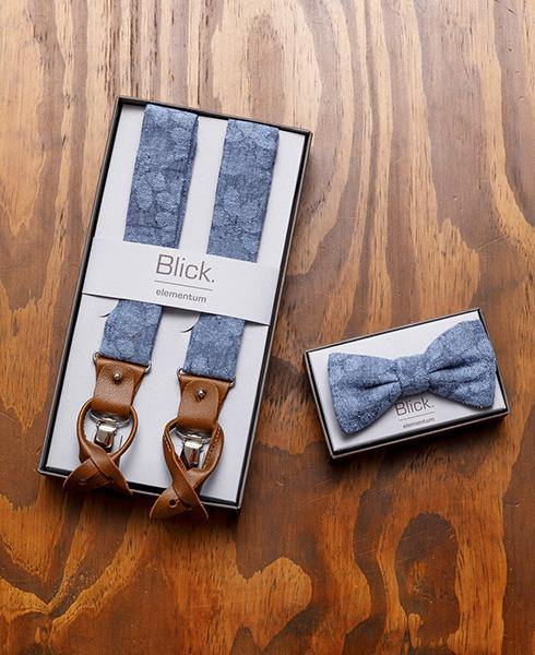 Blick. Accessoire Set Denim Flowers Blue - Blick.