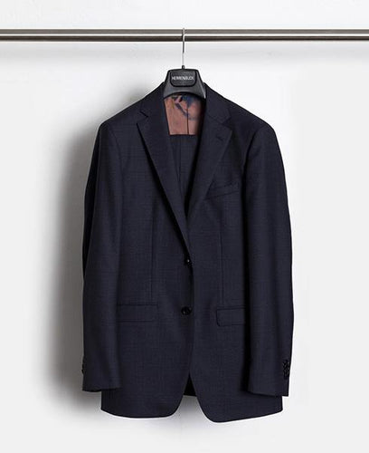 Herrenbude Super 130 Suit Slim 2.0 Glencheck Midnight Blue - Herrenbude