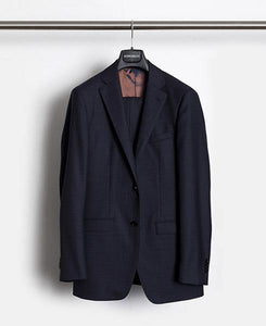 Herrenbude Super 130 Suit Slim 2.0 Glencheck Midnight Blue