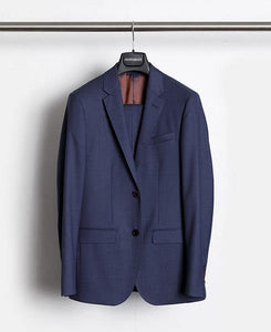 Herrenbude Super 130 Suit Super Slim Denim Pin Point