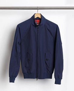 Baracuta G9 Harrington Jacket Navy - Baracuta