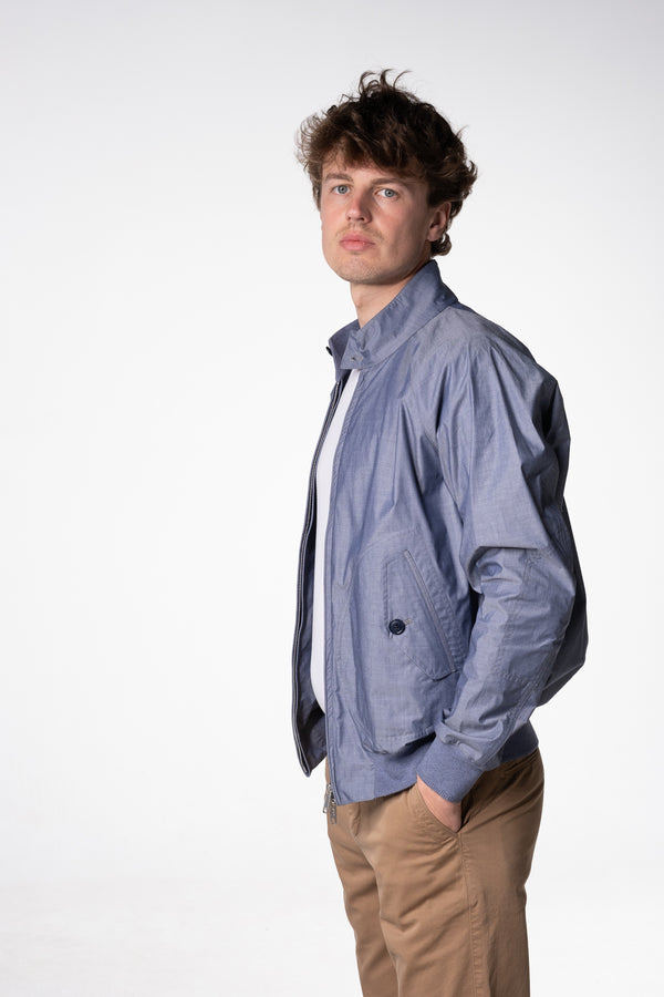 Baracuta G9 Harrington Jacke Chambray