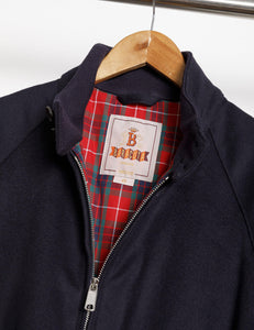 Baracuta G9 Harrington Melton Jacket Deep Blue - Baracuta