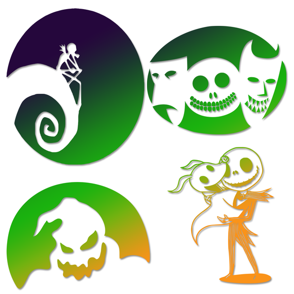 Nightmare Before Christmas Decals