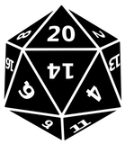 20 Sided Die Dice D&D Dungeons & Dragons Vinyl Decal Sticker