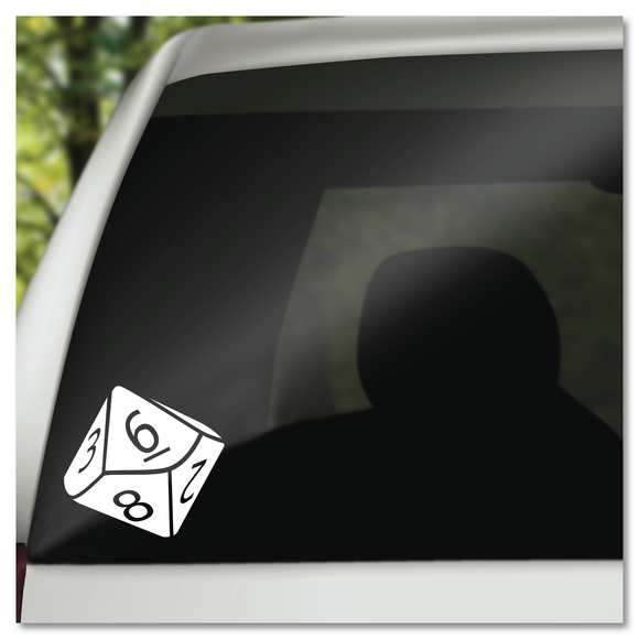8 Sided Dungeons & Dragons D&D Die Dice Vinyl Decal Sticker