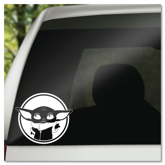 Grogu Baby Yoda The Child from Star Wars The Mandalorian Vinyl Decal Sticker