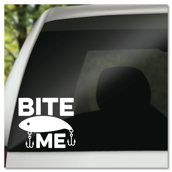 Fishing Bite Me Fish Lure Vinyl Decal Sticker
