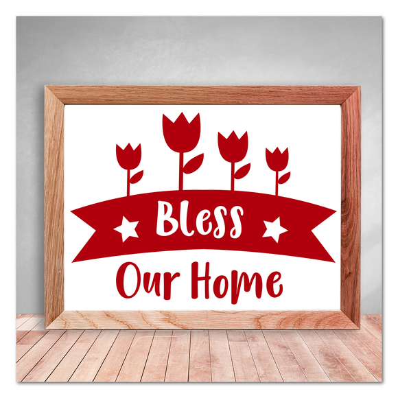 Bless Our Home Tulips Vinyl Decal Sticker