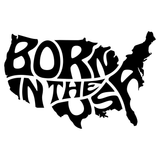 Born In The USA Vinyl Decal Sticker