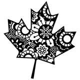 Canada Maple Leaf Mandala Zentangle Vinyl Decal Sticker