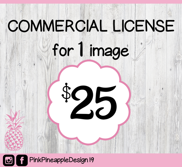 Commercial License for Digital Download SVG PNG ESP DFX for Cricut, Cameo, Sublimation, Print & More