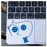 Coraline Thread and Buttons Vinyl Decal Sticker