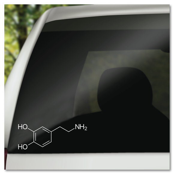 Dopamine Molecule Structure Science Vinyl Decal Sticker