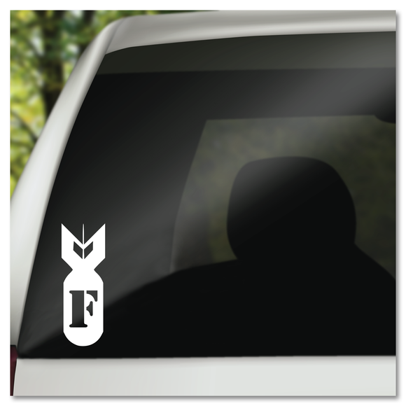 Dropping the F Bomb Vinyl Decal Sticker
