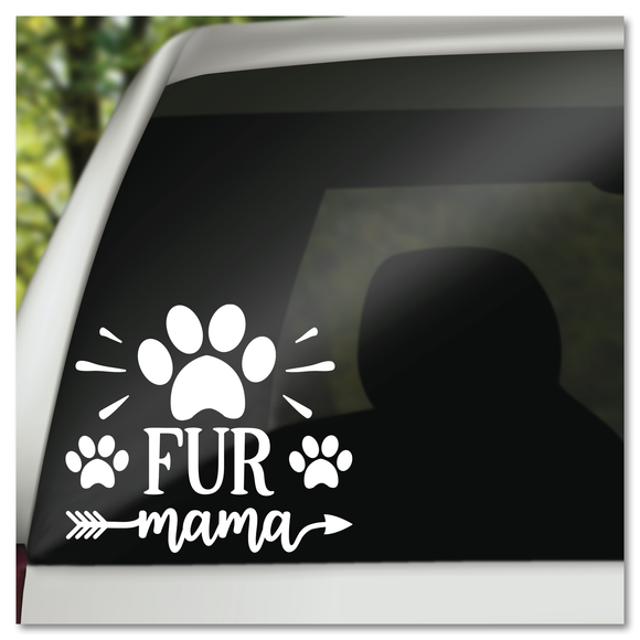 Fur Mama Paw Print and Arrow Vinyl Decal Sticker