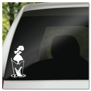 Disney Haunted Mansion Stretching Portrait Tightrope Girl Vinyl Decal Sticker