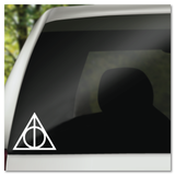 Harry Potter Deathly Hallows Symbol Master of Death Vinyl Decal Sticker