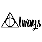 Harry Potter Always w/ Master of Death Symbol Deathly Hallows Vinyl Decal Sticker