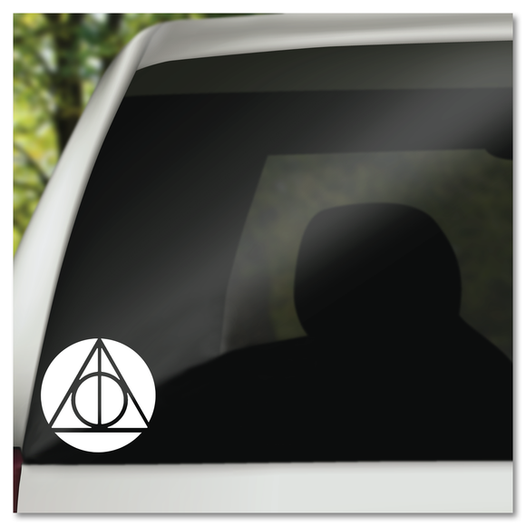 Harry Potter Deathly Hallows Symbol Master of Death In Circle Vinyl Decal Sticker