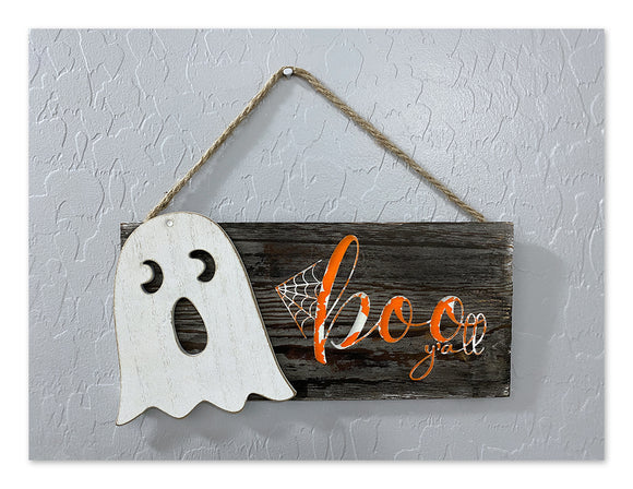 Adorable 3D Halloween Signs Ghost, Bat, Spider or Skull.