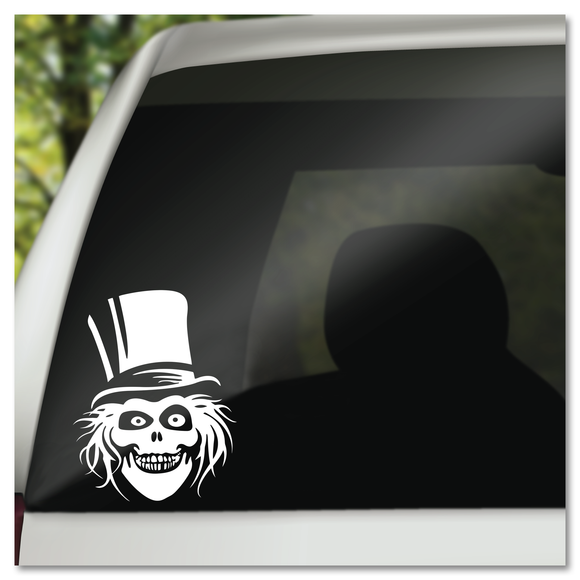 Disney Haunted Mansion Hatbox Ghost Vinyl Decal Sticker