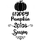 Happy Pumpkin Spice Season Vinyl Decal Sticker