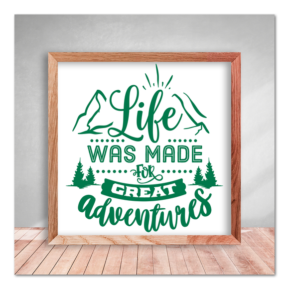 Life Was Made For Great Adventures Vinyl Decal Sticker